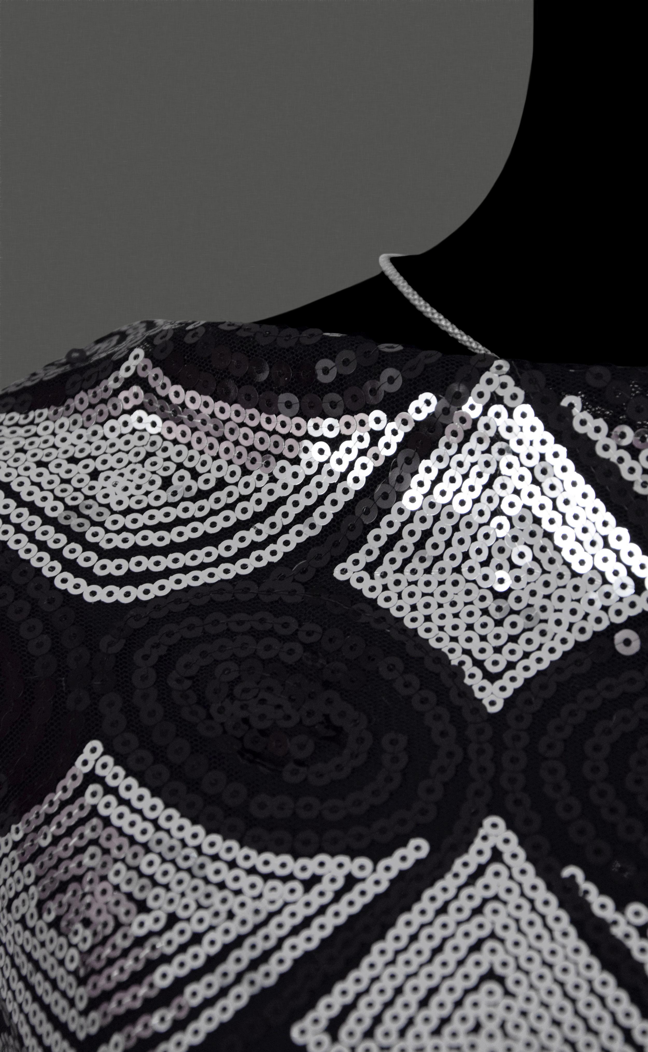 stoff pailletten flitter t ll elastisch silbern schwarz meterware dekostoff ebay. Black Bedroom Furniture Sets. Home Design Ideas