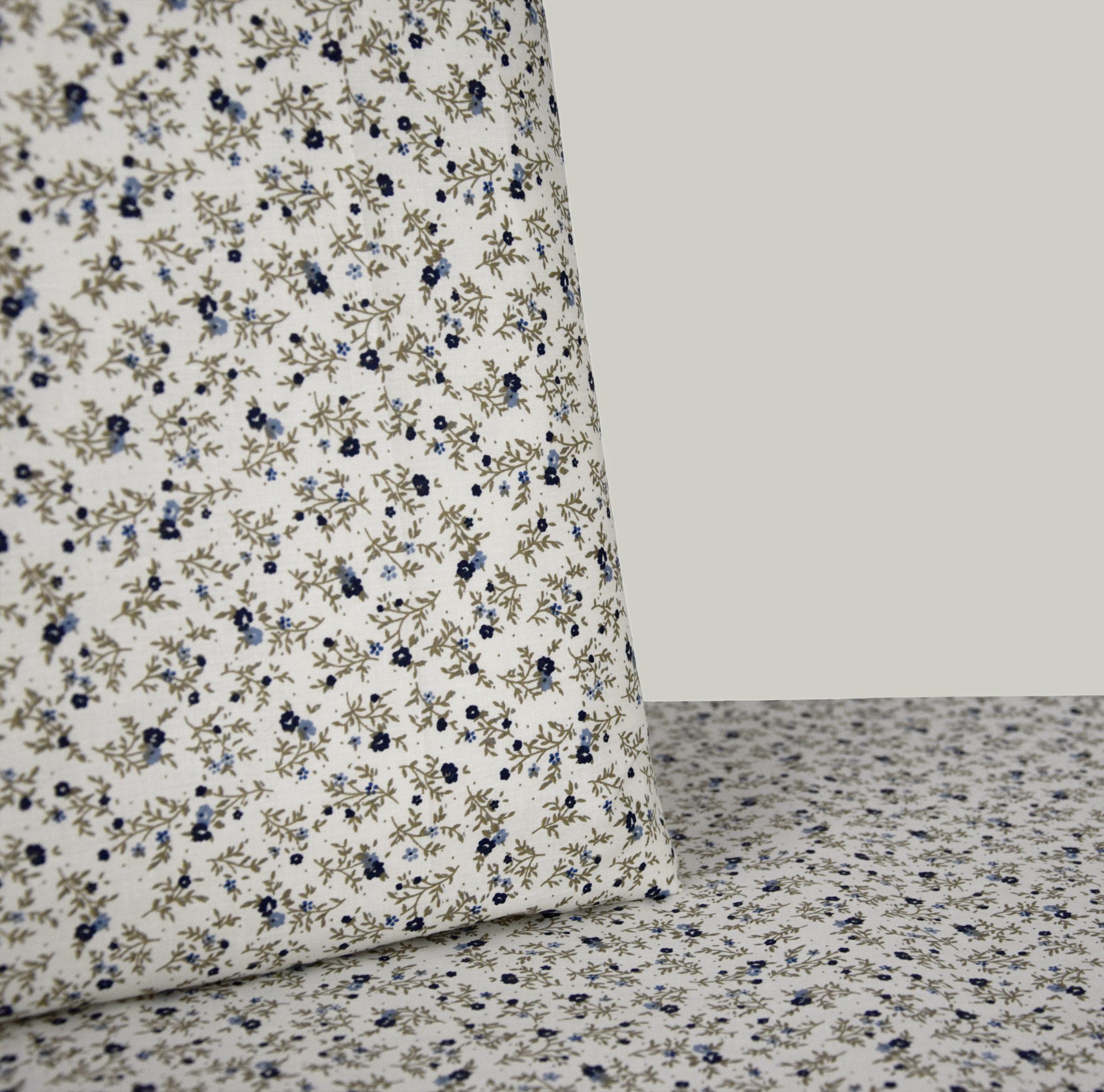 stoff baumwolle dekostoff blumenmuster wiese cremefarben bettw sche kissenbezug ebay. Black Bedroom Furniture Sets. Home Design Ideas